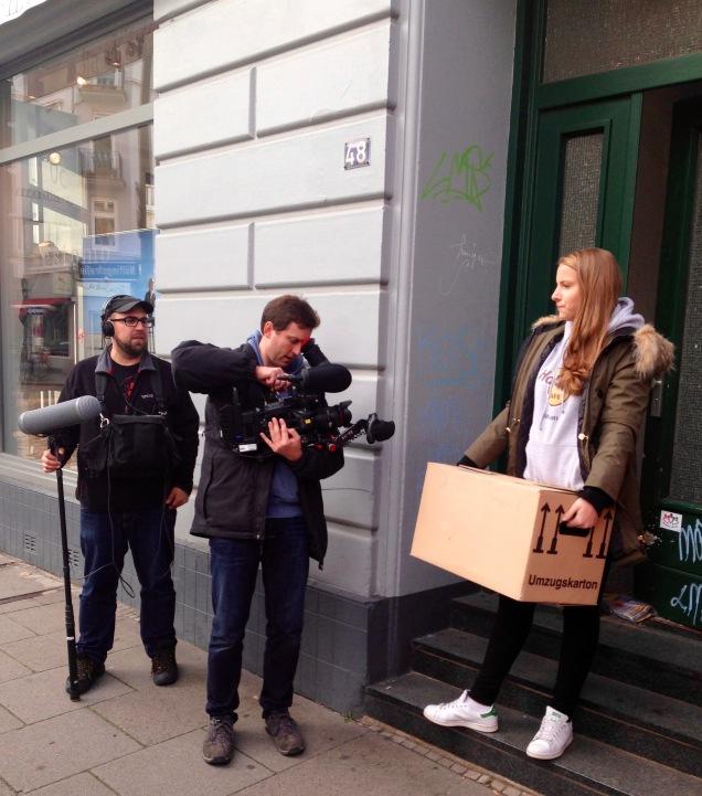 Der NDR filmt ShelfSailor